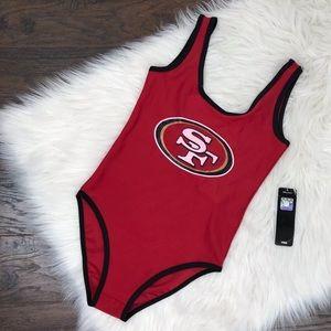 NWT NFL San Francisco 49ers swimsuit bodysuit